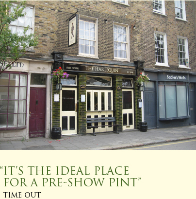 "The Harlequin ""It's the ideal place for a pre-show pint"""